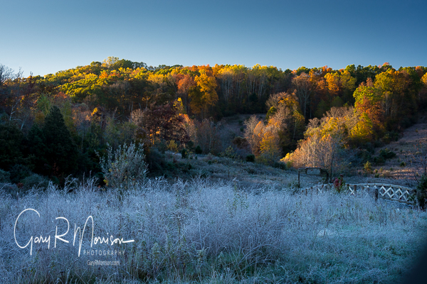 Frosty Fall Morning Brown County IN