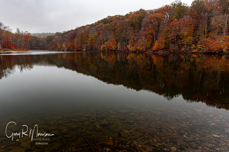Calm fall day at Ogle Lake Brown County SP IN