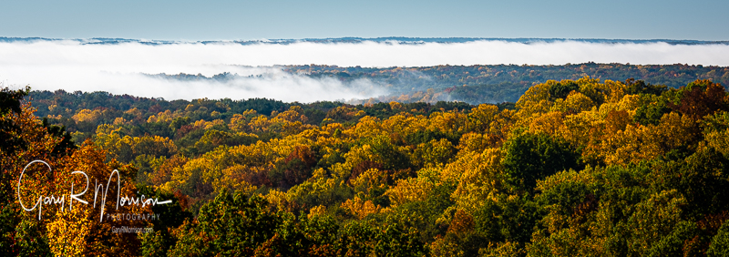 Early Fall Colors In The Fog BCSP IN
