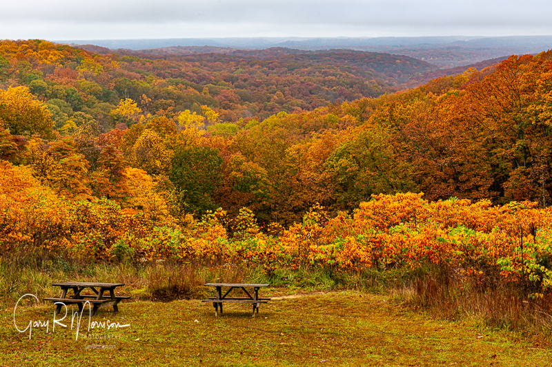 Fall colors at Inspiration Point Brown County SP IN