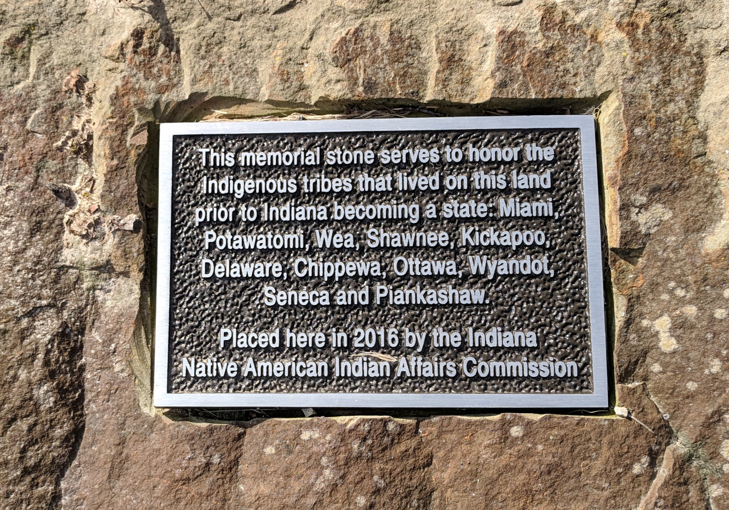 Native American Marker at Shrader-Weaver Woods