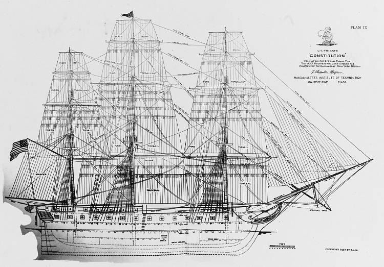 USS Constitution Scale drawing