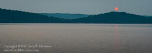 Hazing Sunrise at Lake Monroe, Bloomington, IN
