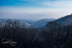 Hoar frost in the valley Brown County IN