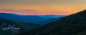 Sunset from Skyline Drive, Shenandoah National Park, Virgnia