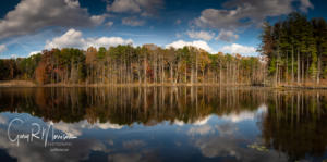 Fall reflections at Sundance Lake HNF IN